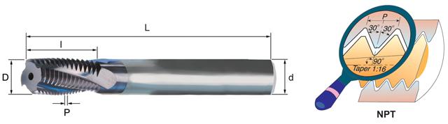 CARMEX NPT Thread Milling Cutter