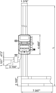 Electronic Height Gage SKETCH