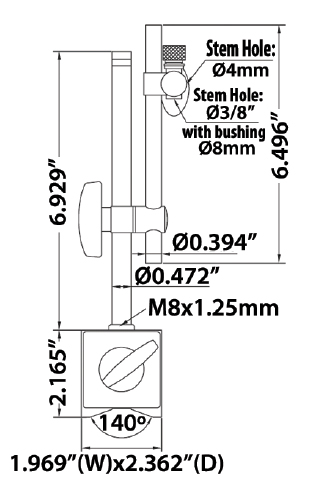 INSIZE Magnetic Stand 816250